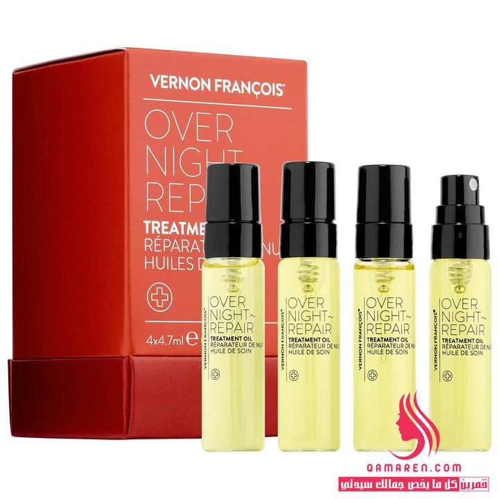 زيوت Vernon Francois Overnight~Repair Treatment للشعر المجعد