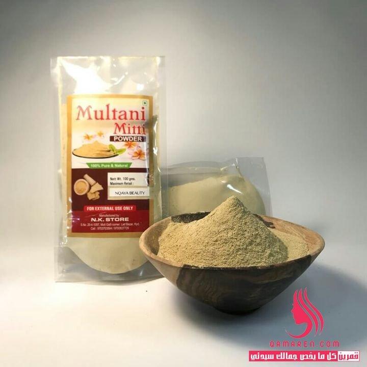 الطين الهندي Multani Mitti لعلاج قشرة الشعر